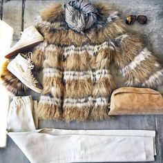 When it drops below 80 degrees we start breaking out the fur and leather  Call us today if you like what you see... we've got it waiting for you. . . . #streetstyle #lookoftheday #ootd #goldengoose #zinga #tomford #falierosarti #yvessalomon Abejas Boutique