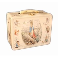 images of beatrix potter characters Retro Lunch Boxes, Tin Lunch Boxes, Metal Lunch Box, Vintage Tins, Retro Vintage, Beatrix Potter Cake, Beatrice Potter, Newest Jordans, Tin Toys
