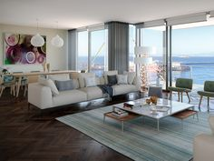 V&a Waterfront, Home Automation, Luxury Apartments, Mountain View, Cape Town, Dining Table, Couch, Furniture, Design