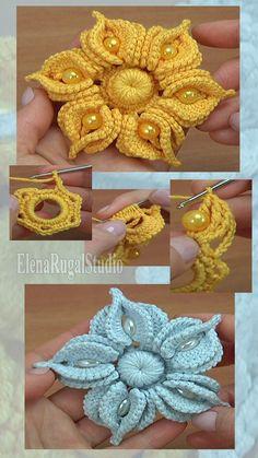 Freeform Crochet, Thread Crochet, Crochet Motif, Crochet Crafts, Irish Crochet, Crochet Projects, Knit Crochet, Crochet Jewelry Patterns, Crochet Edging Patterns