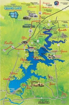 Check out these Historic Route 66 attractions Miami, Commerce Vinita, and Afton OK - all near Grand Lake!