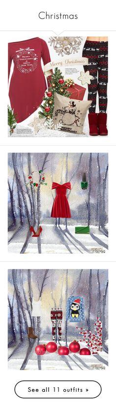 """Christmas"" by jessieturtlegirl ❤ liked on Polyvore featuring Emilio De La Morena, Schutz, Bling Jewelry, OPI, Ally Fashion, Glamorous, UGG Australia, J.W. Anderson, Melissa and Benetton"