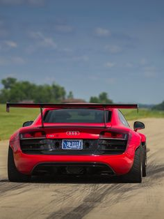 Wide body Audi R8.