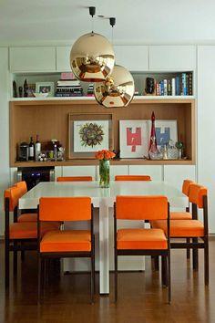 Ambientes com laranja na decoração