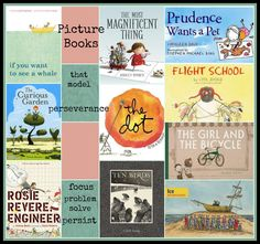 Picture Books that model perseverance from There's a Book for That. Great for #growthmindset #edchat