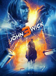 Keanu Reeves in John Wick: Chapter 3 - Parabellum Watch John Wick, John Wick Movie, John Wick 1, Action Movie Poster, Best Movie Posters, Action Movies, Keanu Reeves John Wick, Samhain Halloween, Actor