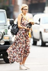backpack with floral dress