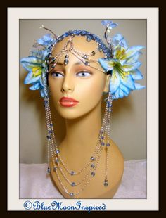 tribal headpiece head dress bellydance burning man fantasy wear fairy head - Yamini Kumar Cohen Photo Mariage