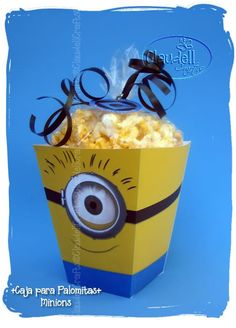 Minions Party Inspired Printable Popcorn / Favor by ClaudellCrafts