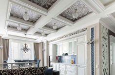 Кессонный потолок из дерева и гипсокартона своими руками и на заказ, цены на монтаж