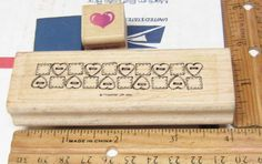 BUTTON BORDER, HEART & CUPID (FOAM MOUNTED) LOT OF 3 RUBBER STAMP #MIXED #rubberstamp Cupid, Bamboo Cutting Board, Stamp, Button, Heart, Crafts, Ebay, Things To Sell, Stamps