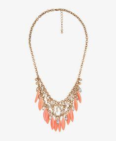 Marbled Fringe Necklace | FOREVER21