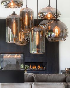 Simple Kitchen: 60 Beautiful and Cheap Decoration Tips! - Home Fashion Trend Industrial Lighting, Interior Lighting, Kitchen Lighting, Form Design, Home Gadgets, Pendant Lamp, Lamp Light, Decoration, Vintage Shops