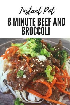 8 Minute Beef and Broccoli - switch out some ingredients for Paleo option! Broccoli Dishes, Broccoli Beef, Broccoli Recipes, Instant Pot Pressure Cooker, Pressure Cooker Recipes, Pressure Cooking, Slow Cooker, Fast Cooker, Beef Recipe Instant Pot