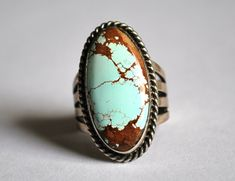 Turquoise Ring Size 9 by JeanneHandmade on Etsy, $80.00