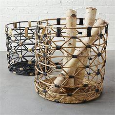beso large natural basket | CB2