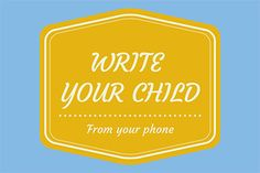 How to Write Your Sponsored Child from Your Phone