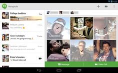 Google Hangouts - chat with one or more people, share, and interact.