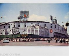 The old Tiger Stadium color photograph. Tiger Stadium at the corner of Michigan and Trumbull until it closed. Detroit, MI.