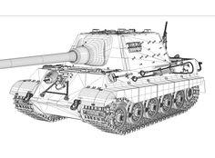 SD.KFZ 186 Panzerjäger Tiger II - Ausf.B - Jagdtiger ( Henschel )