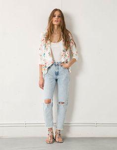 Bershka floral print blazer