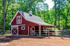 barn wedding Custom Horse Barns CT, MA, RI, Stables, Riding Arenas: The Barn Yard & Great Cou. Goat Barn, Farm Barn, Small Barn Plans, Small Barn Home, Farm Plans, Small Horse Barns, Horse Shelter, Horse Stables, Horse Farms