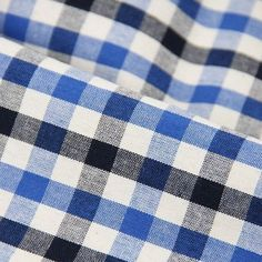 Items similar to Black Blue Checker Pure Cotton Fabric, 1/2 Yard on Etsy