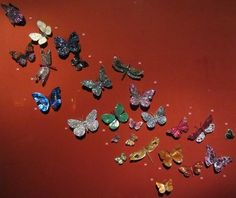 A Wall of JAR Butterflies from the 'Jewels by JAR' exhibit at the Met