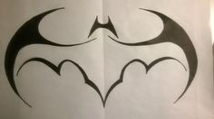 Tribal Batman Batwing Logo by lrayjus21