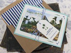 Tropical Typography Wedding Invitation (Florida)