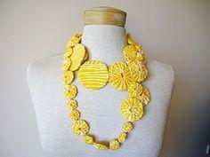 Modern fabric jewelry