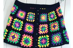 How to Make a Granny Square Skirt : Love anything granny square? Then you will love making this skirt by Hey Day Crochet. The pattern uses our lovely Rico cotton yarn so which makes the colours really pop. Skirt Pattern Free, Crochet Skirt Pattern, Crochet Skirts, Granny Square Crochet Pattern, Crochet Squares, Crochet Clothes, Crochet Patterns, Free Pattern, Skirt Patterns