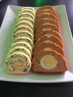 Sajttekercs és Stefánia szelet (Cheese and ham roulade/ Meatloaf Slices with Egg)