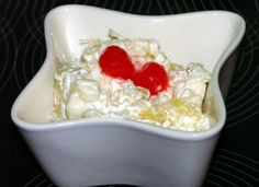 - made for Memorial Day picnic for dad: Glorified Rice. This dessert-salad is a blast from the past! It's basically a rice pudding with crushed pineapple, whipped cream, and maraschino cherries. Rice Desserts, Just Desserts, Delicious Desserts, Dessert Recipes, Yummy Food, Pudding Desserts, Glorified Rice Recipe, Amish Recipes, Cooking Recipes