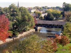 Naperville Riverwalk just a couple blocks from North Central College's campus! So beautiful in the fall! (location to take Brian when he visits?)