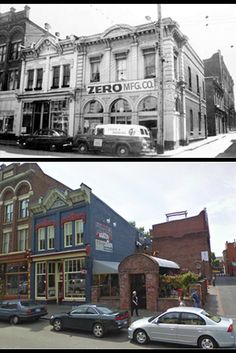 Throwback Thursday – check out this comparison from lower Johnson Street, aka Lo-Jo, in Victoria. Lots of fun differences to find here! Can you guess what year the older picture is from? Tourism Victoria, Victoria City, Victoria Bc Canada, Emily Carr, Then And Now Photos, Travel Stuff, Sunshine Coast, Travel Information, Vancouver Island