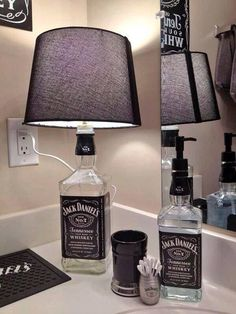 "dontmindmejustfangirling: ""I'M DOING THIS!!!'' Jack Daniels Lamp"