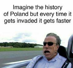 Palestine Quotes, Ap Euro, Poland History, Polish Memes, History Jokes, Stupid Jokes, Funny Relatable Memes, Tumblr Funny, Puns