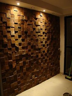 Wallcovering Wood - Wall Mounts Pin - Home Decor ideas &Home Garden & Diy Wooden Wall Design, Wooden Wall Panels, Wooden Wall Decor, Wood Panel Walls, Wooden Walls, Wall Wood, Wood Wall Paneling, Wood Art, Wall Fixtures