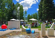 Picnic at the Marble Garden during Global Spa Summit at the Aspen Meadows Resort