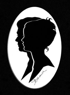 Must make: A double silhouette (this one's by Ruth Monsell of Damariscotta.) want to make one of the hubby & I
