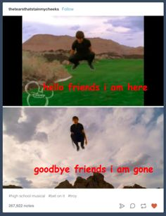 51 Pics Guaranteed To Make High School Musical Fans Laugh - School Funny - School Funny meme - - Stress level: Troy choosing between singing and basketball. The post 51 Pics Guaranteed To Make High School Musical Fans Laugh appeared first on Gag Dad. Tumblr School, Funny Quotes, Funny Memes, Hilarious, Quotes Quotes, High School Musical 3, School Humor, Funny School, Infancy
