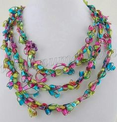 Ladder ribbon necklace