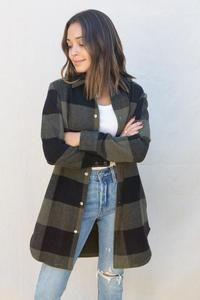 BB Dakota Eldridge Coat PRESALE – Wilde and Sparrow Plaid Coat, Love Her Style, Cool Style, Crop Tee, Say Hello, Wardrobes, Cold Weather, Gem, Rain Jacket