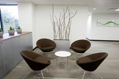 Home Office Design Breathtaking Contemporary Ideas Divine Modern Hybrid Intelligence Shelton With Dark Brown Chairs And Small Rounded. small office design. ceo office design. medical office design ideas. minimalist office design.