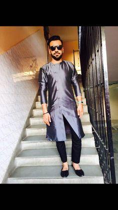 stylist kurta for men Gents Kurta Design, Boys Kurta Design, Indian Men Fashion, Mens Fashion Suits, Men's Fashion, Wedding Kurta For Men, Indian Groom Dress, Mens Traditional Wear, Pathani For Men