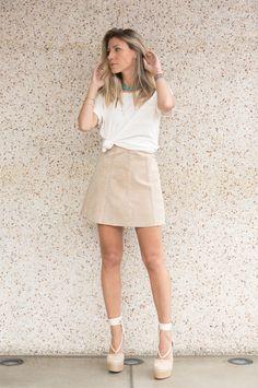 Nati Vozza do Blog de Moda Glam4You dá dica de look básico com cores neutras perfeito para o dia a dia.