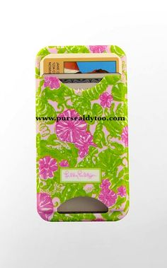 Lilly Pultizer iphone cover with ID For my friend MaryBeth!!