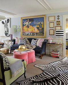 Colorful eclectic living room Ideas - Home Decor Eclectic Living Room, Living Spaces, Eclectic Decor, Room Ideas Bedroom, Bedroom Decor, Aesthetic Room Decor, Home And Deco, Dream Rooms, My New Room