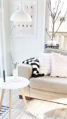 Monochrome lounge area